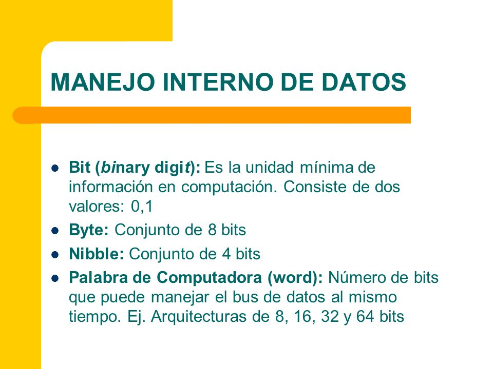 MANEJO INTERNO DE DATOS