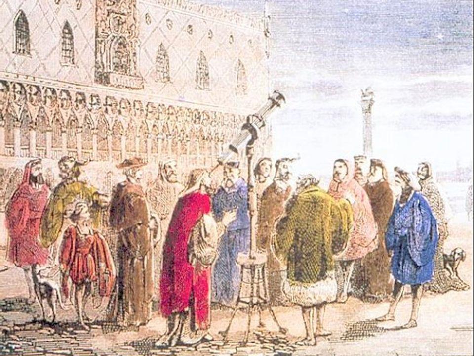 Galileo divulgó ampliamente sus resultados no sólo con sus publicaciones, sino haciendo demostraciones, como se muestra en este grabado.