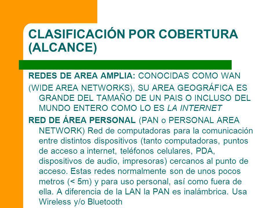 CLASIFICACIÓN POR COBERTURA (ALCANCE)