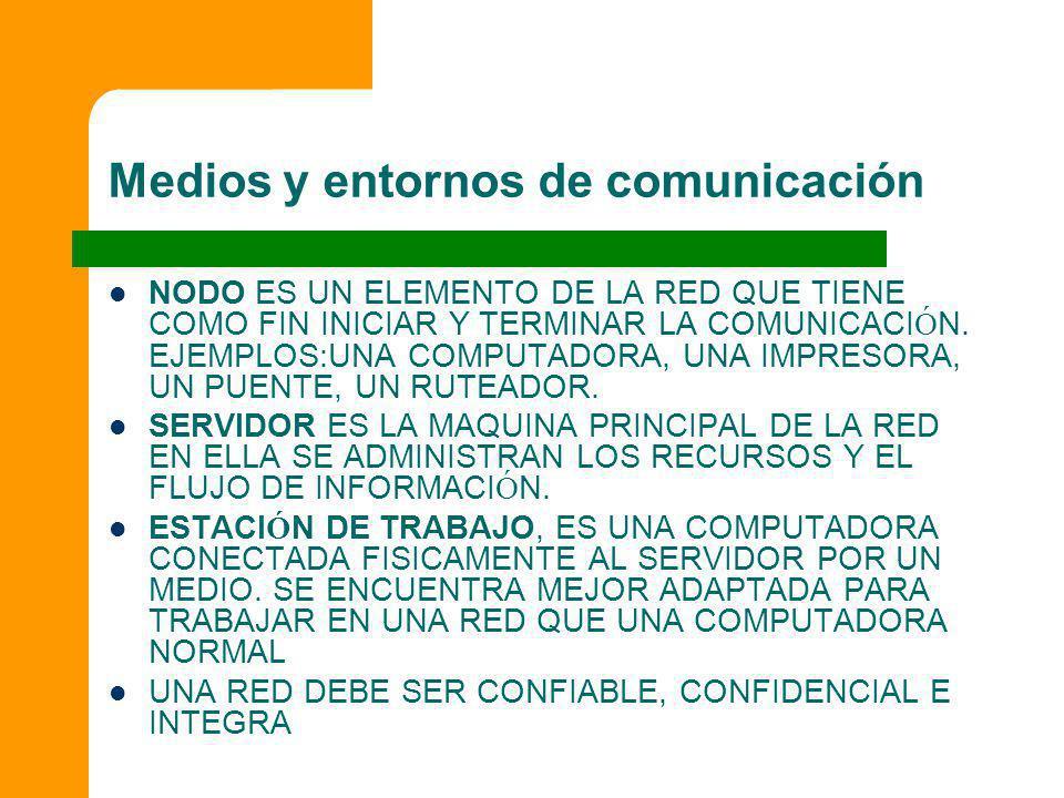 Medios y entornos de comunicación