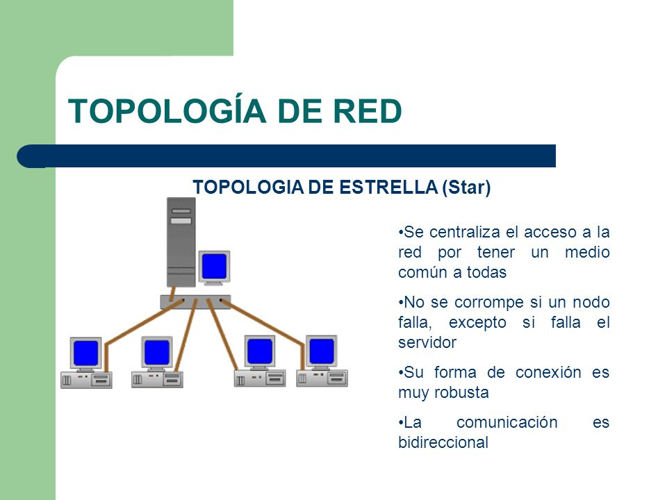 TOPOLOGIA DE ESTRELLA (Star)