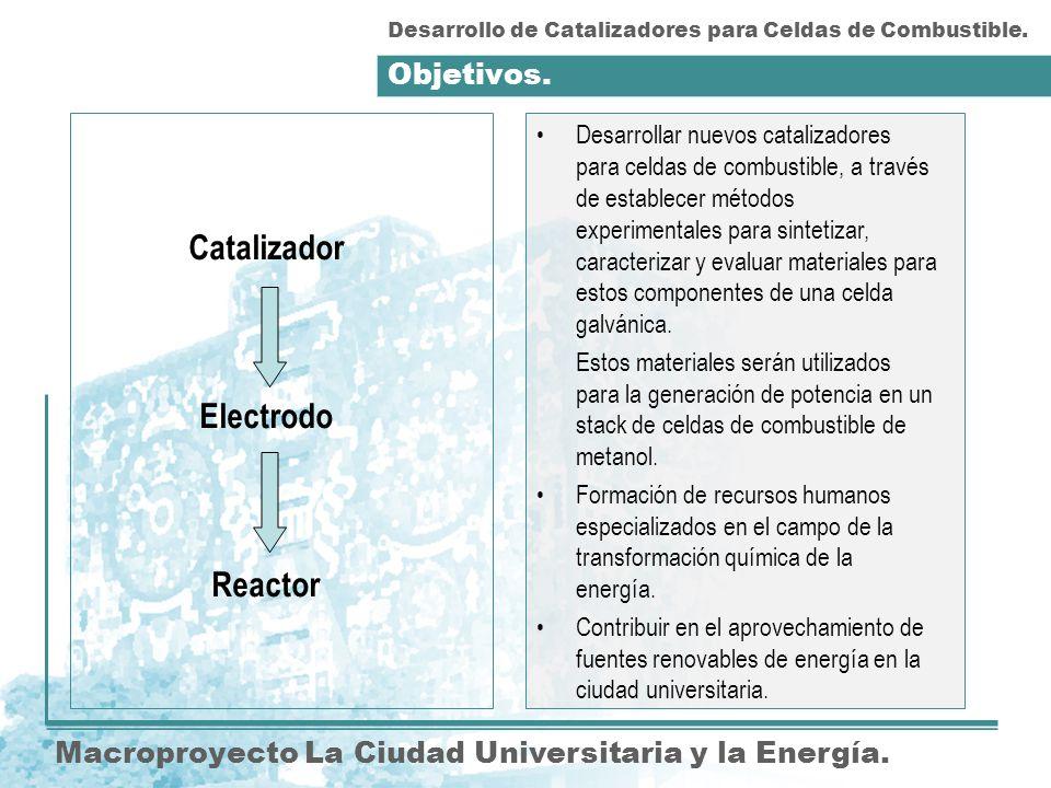 Catalizador Electrodo Reactor
