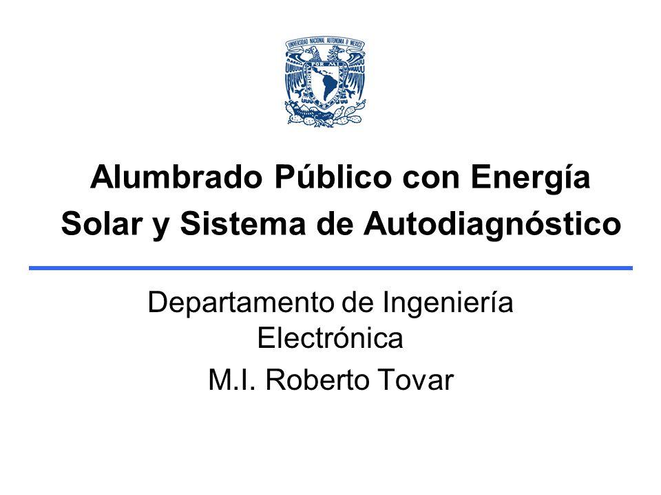 Alumbrado Público con Energía Solar y Sistema de Autodiagnóstico