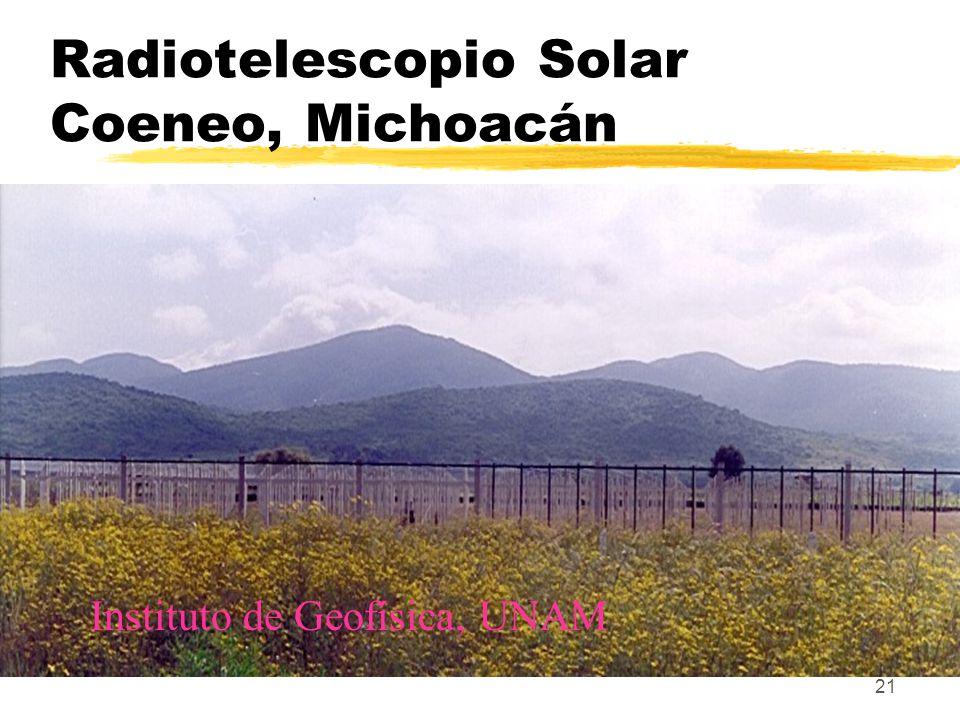 Radiotelescopio Solar Coeneo, Michoacán