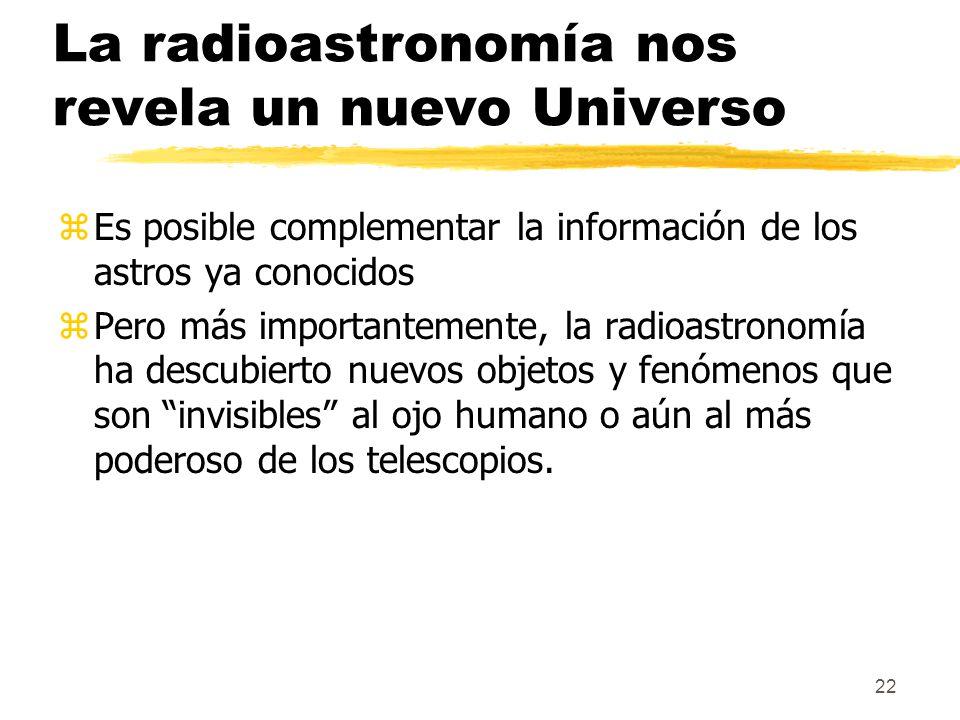 La radioastronomía nos revela un nuevo Universo