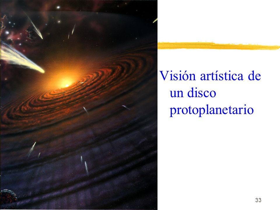 Visión artística de un disco protoplanetario