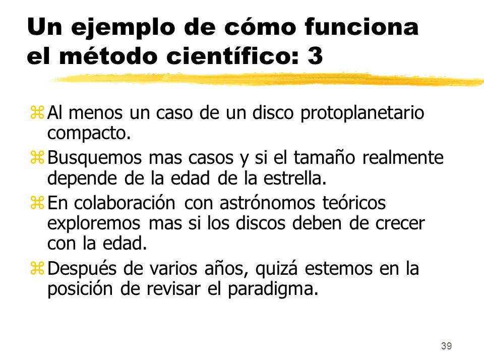 Un ejemplo de cómo funciona el método científico: 3