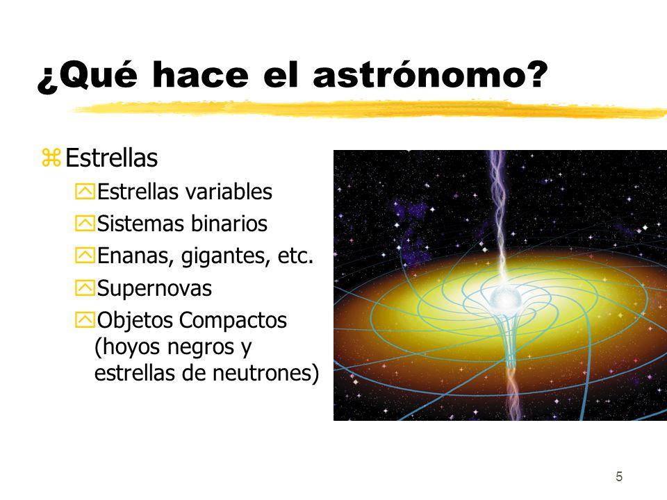 ¿Qué hace el astrónomo Estrellas Estrellas variables