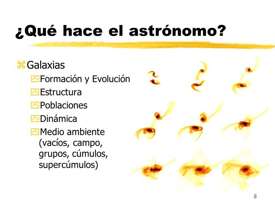 ¿Qué hace el astrónomo Galaxias Formación y Evolución Estructura