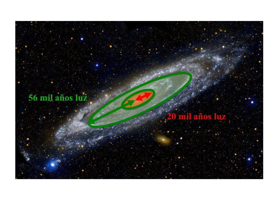 56 mil años luz 20 mil años luz