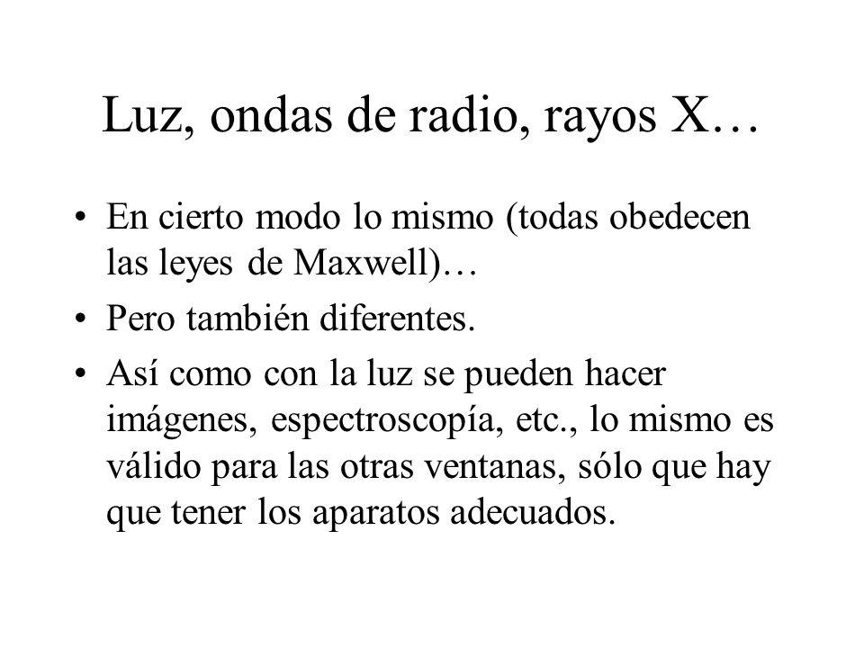 Luz, ondas de radio, rayos X…
