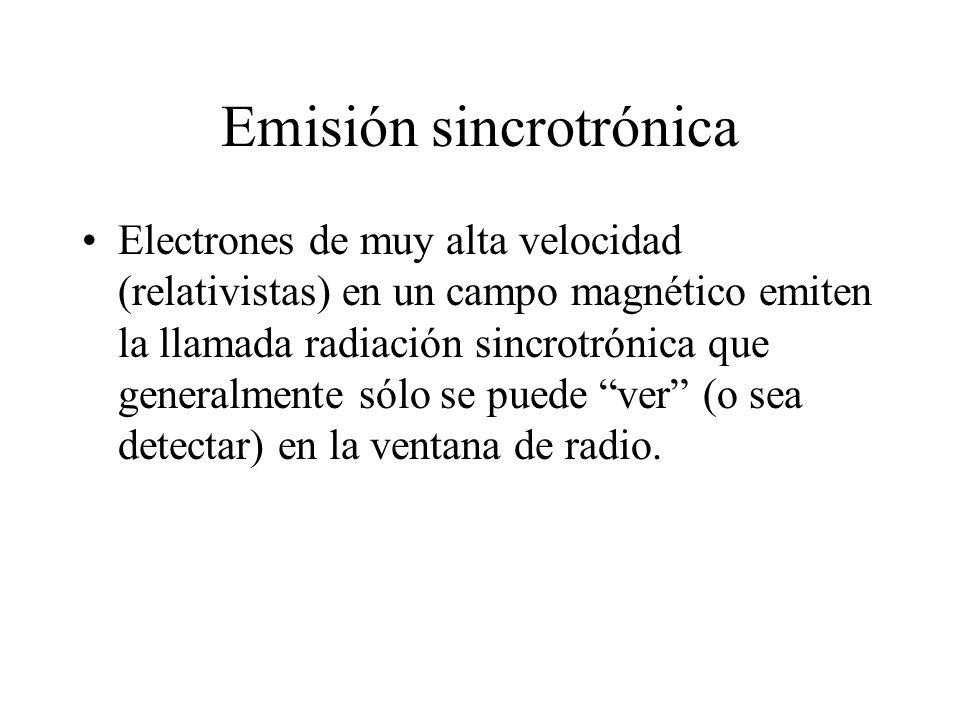 Emisión sincrotrónica