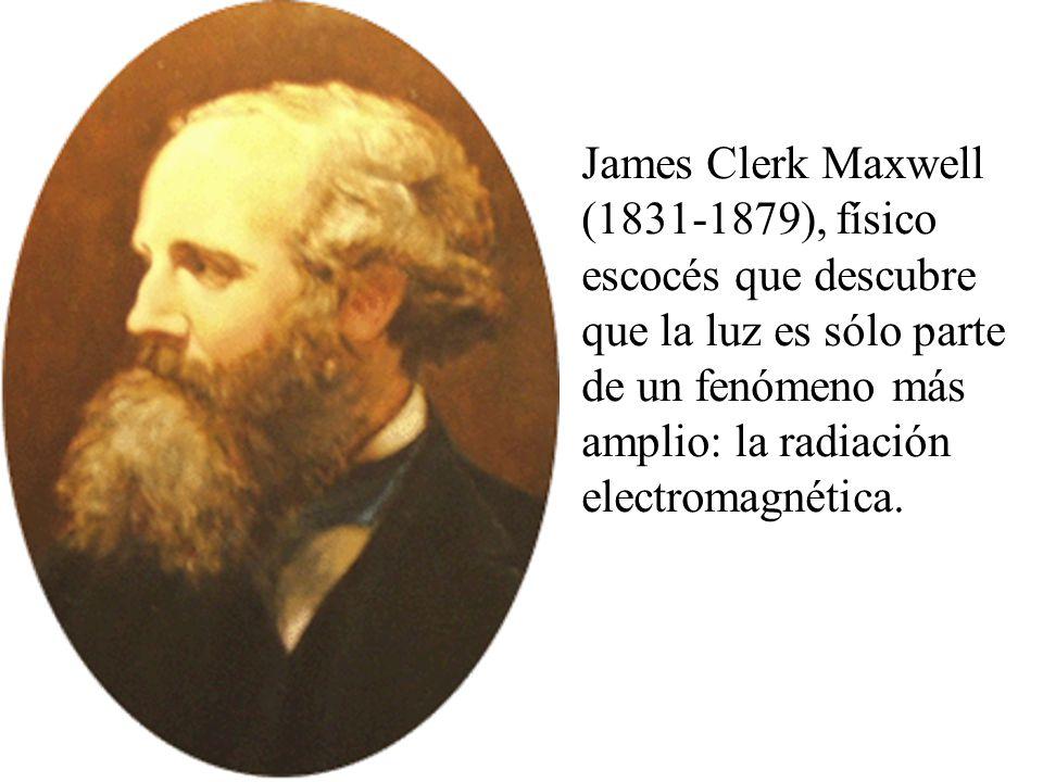 James Clerk Maxwell (1831-1879), físico escocés que descubre que la luz es sólo parte de un fenómeno más amplio: la radiación electromagnética.