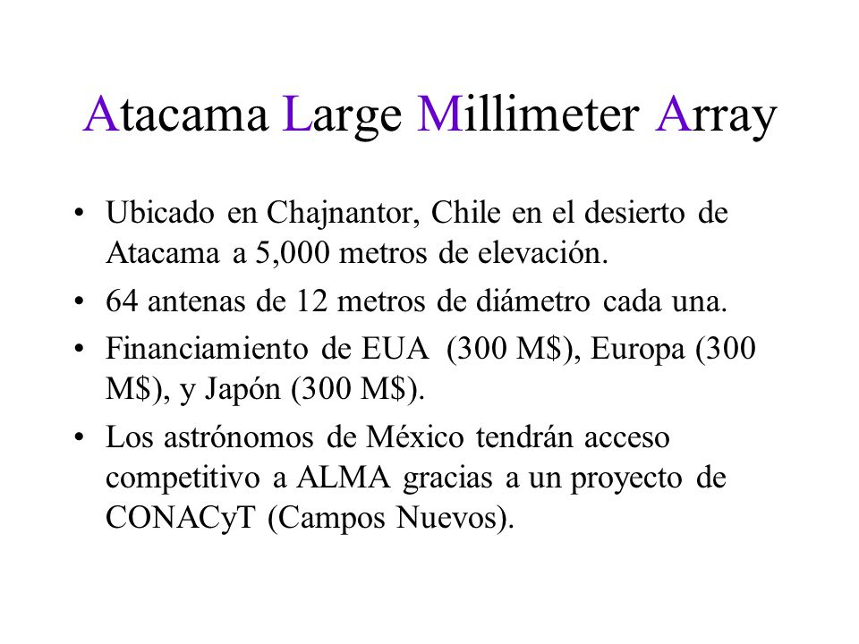Atacama Large Millimeter Array