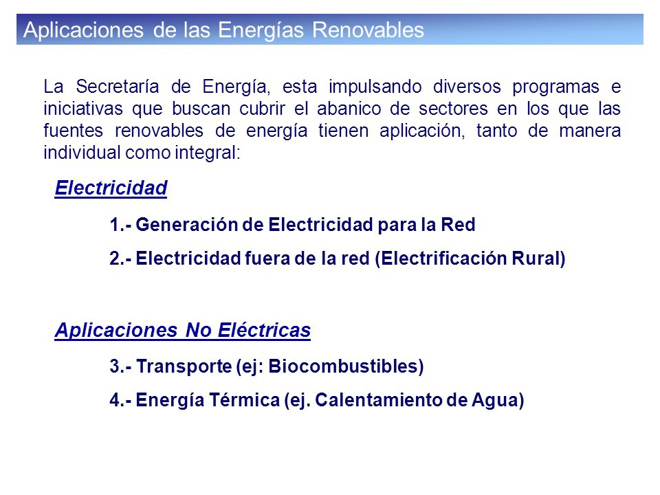 Ley para el Aprovechamiento de las Fuentes Renovables de Energía