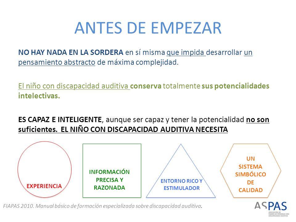ANTES DE EMPEZAR
