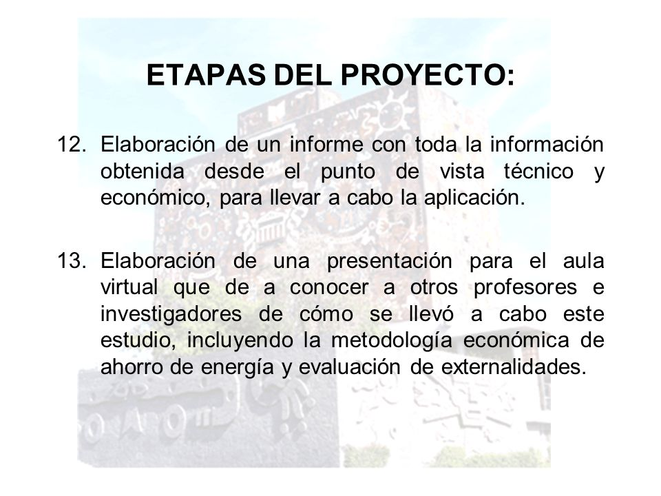 ETAPAS DEL PROYECTO: