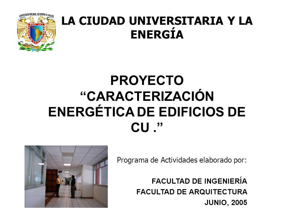 PROYECTO CARACTERIZACIÓN ENERGÉTICA DE EDIFICIOS DE CU .