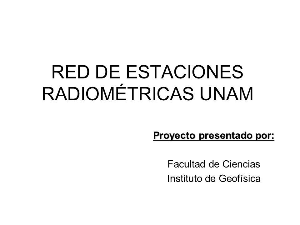 RED DE ESTACIONES RADIOMÉTRICAS UNAM