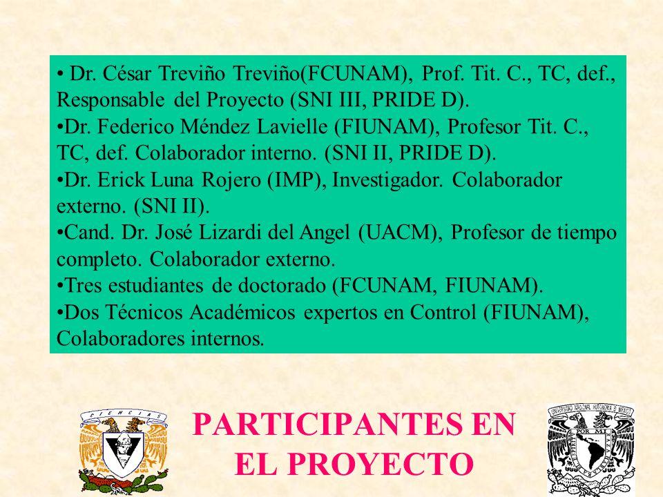 PARTICIPANTES EN EL PROYECTO