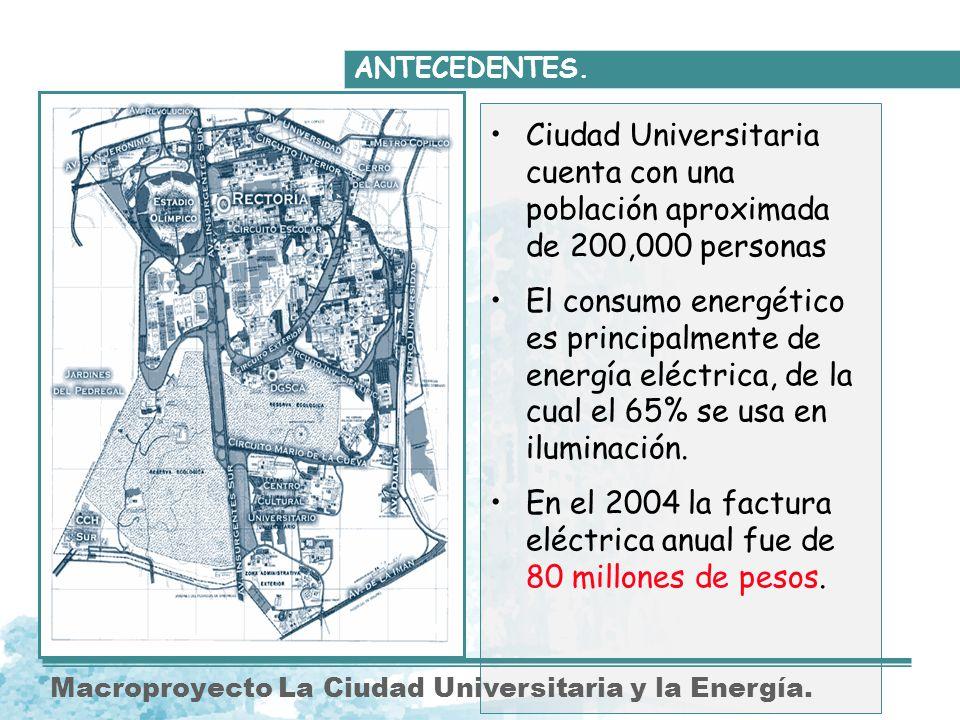 En el 2004 la factura eléctrica anual fue de 80 millones de pesos.