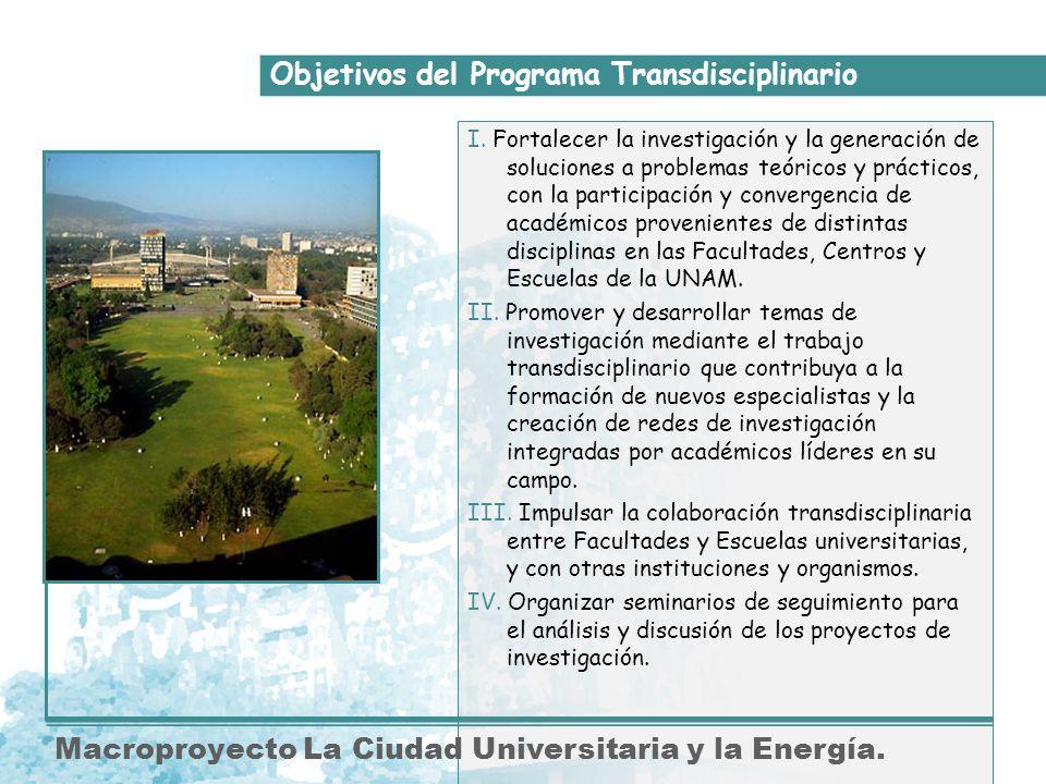 Objetivos del Programa Transdisciplinario