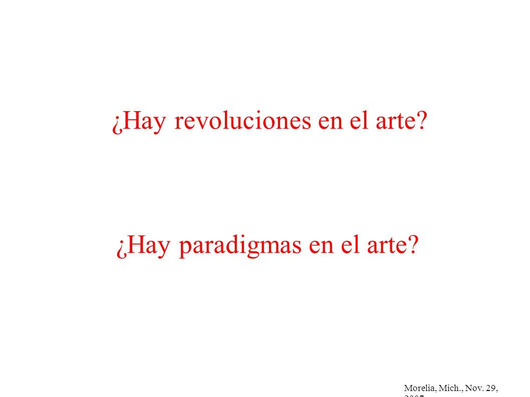 ¿Hay revoluciones en el arte