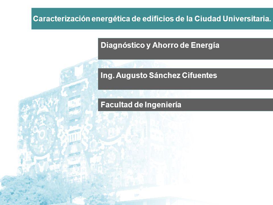 Caracterización energética de edificios de la Ciudad Universitaria.