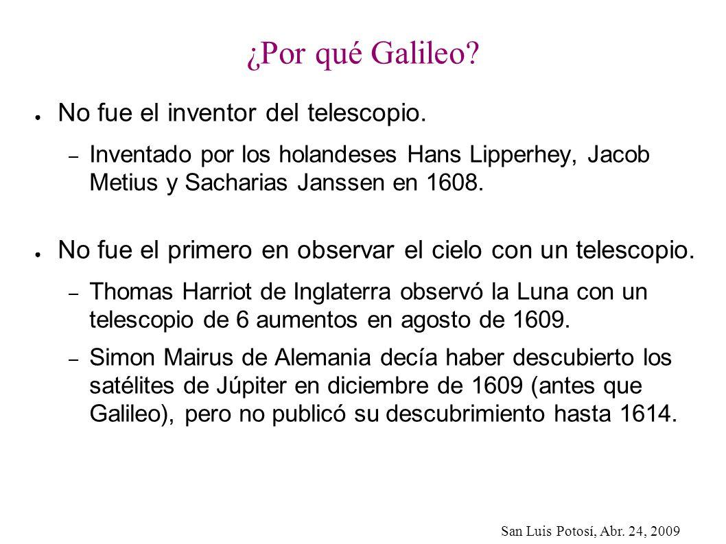 ¿Por qué Galileo No fue el inventor del telescopio.