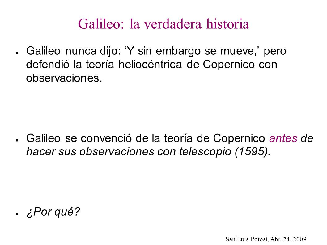 Galileo: la verdadera historia