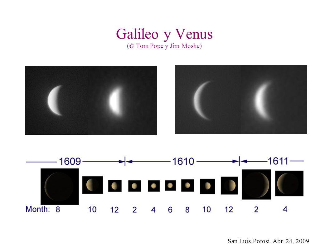 Galileo y Venus (© Tom Pope y Jim Moshe)