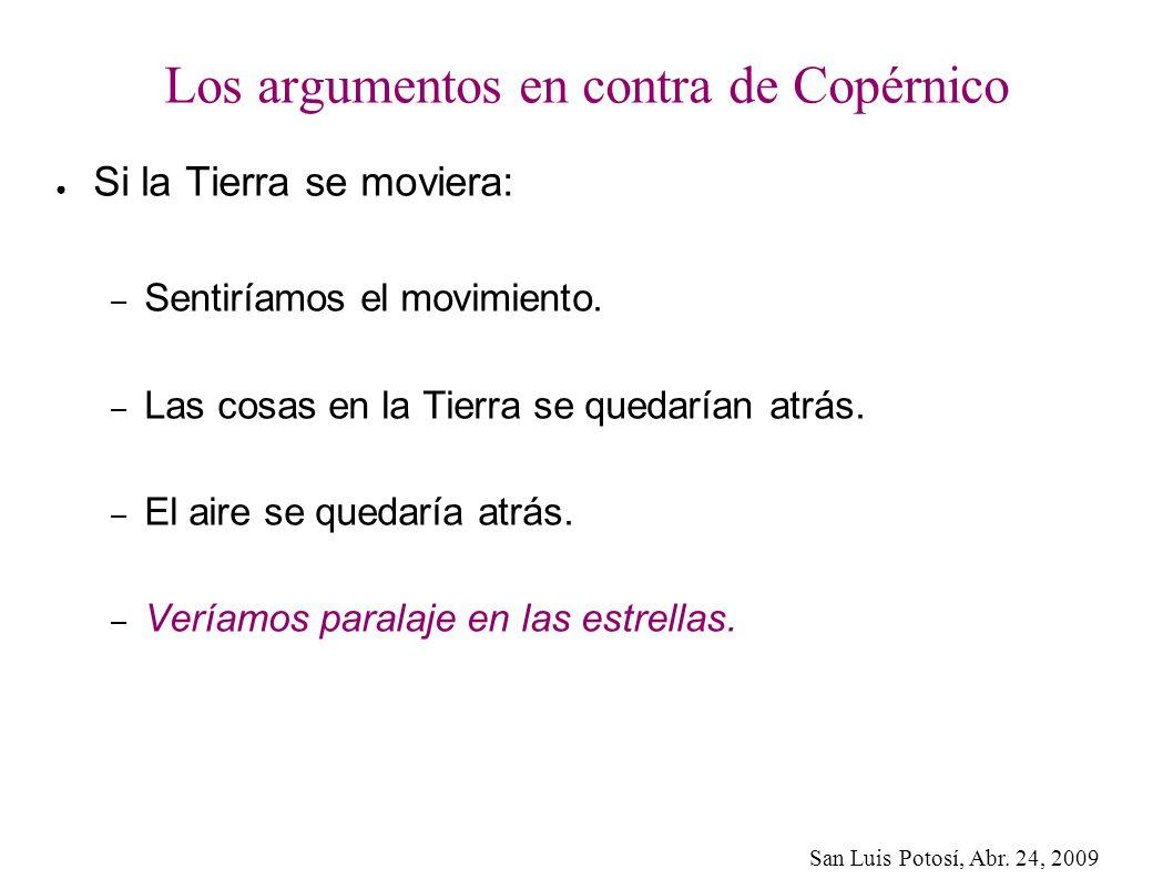 Los argumentos en contra de Copérnico