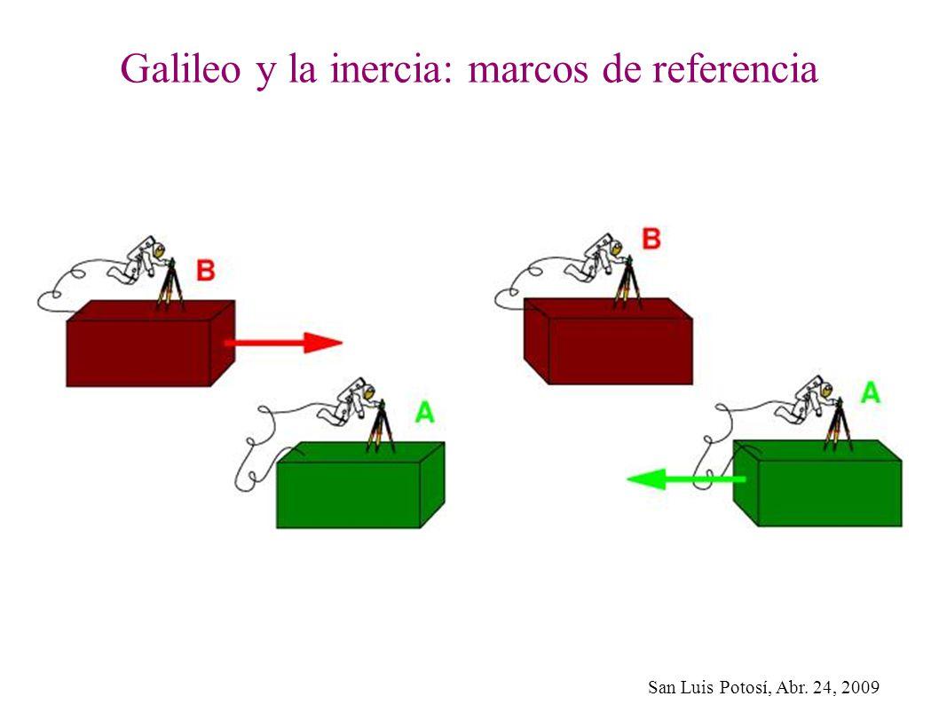 Galileo y la inercia: marcos de referencia