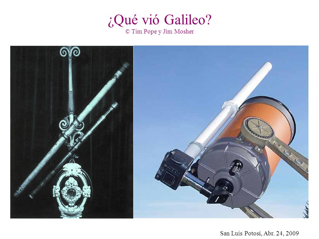 ¿Qué vió Galileo © Tim Pope y Jim Mosher
