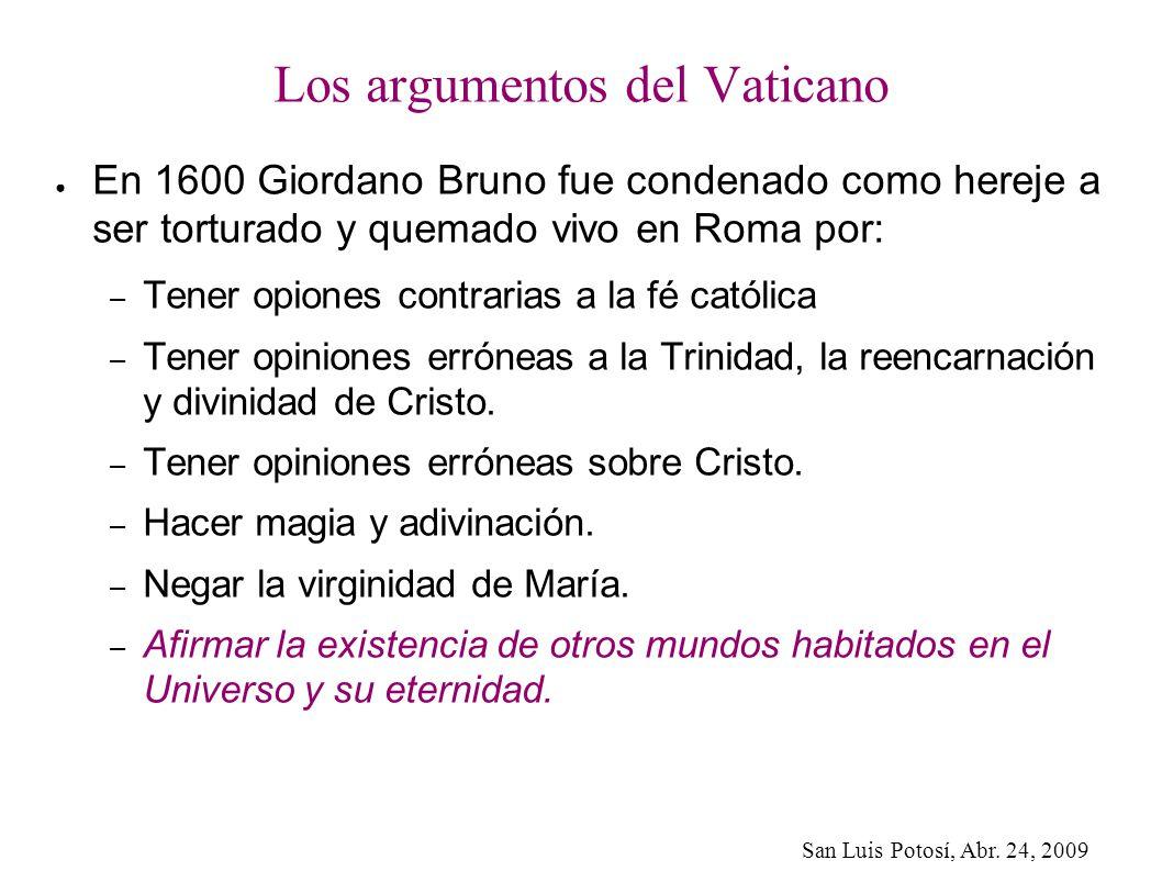 Los argumentos del Vaticano