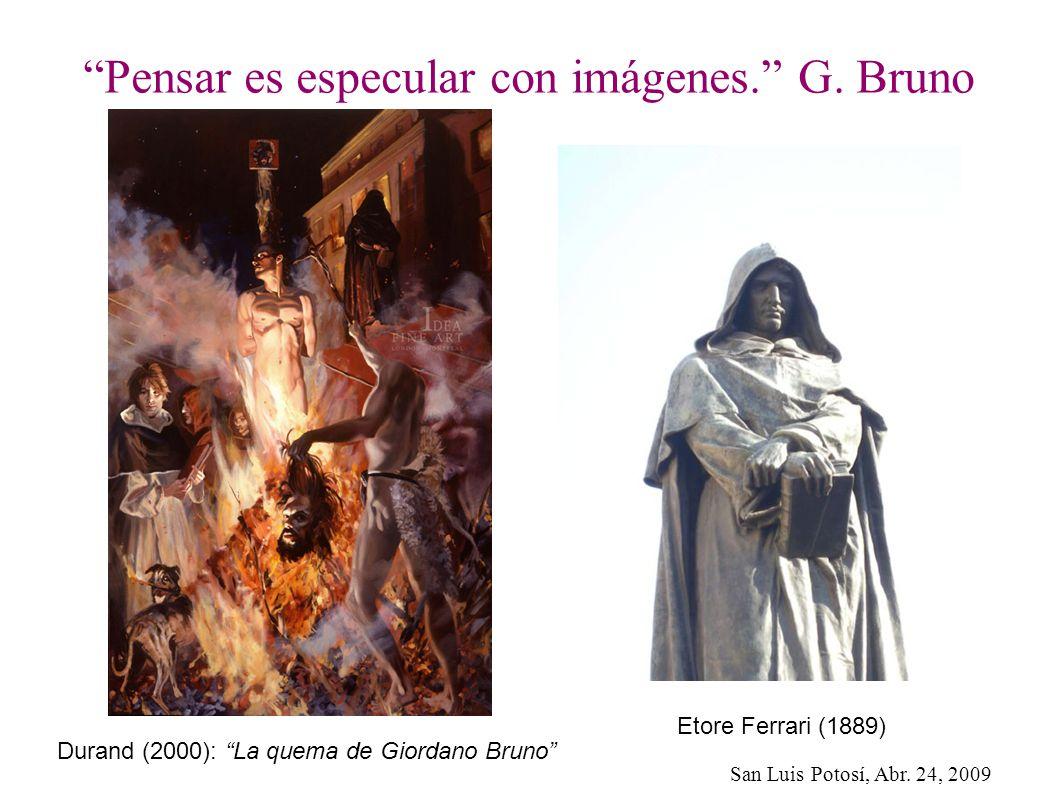 Pensar es especular con imágenes. G. Bruno