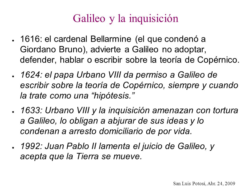 Galileo y la inquisición