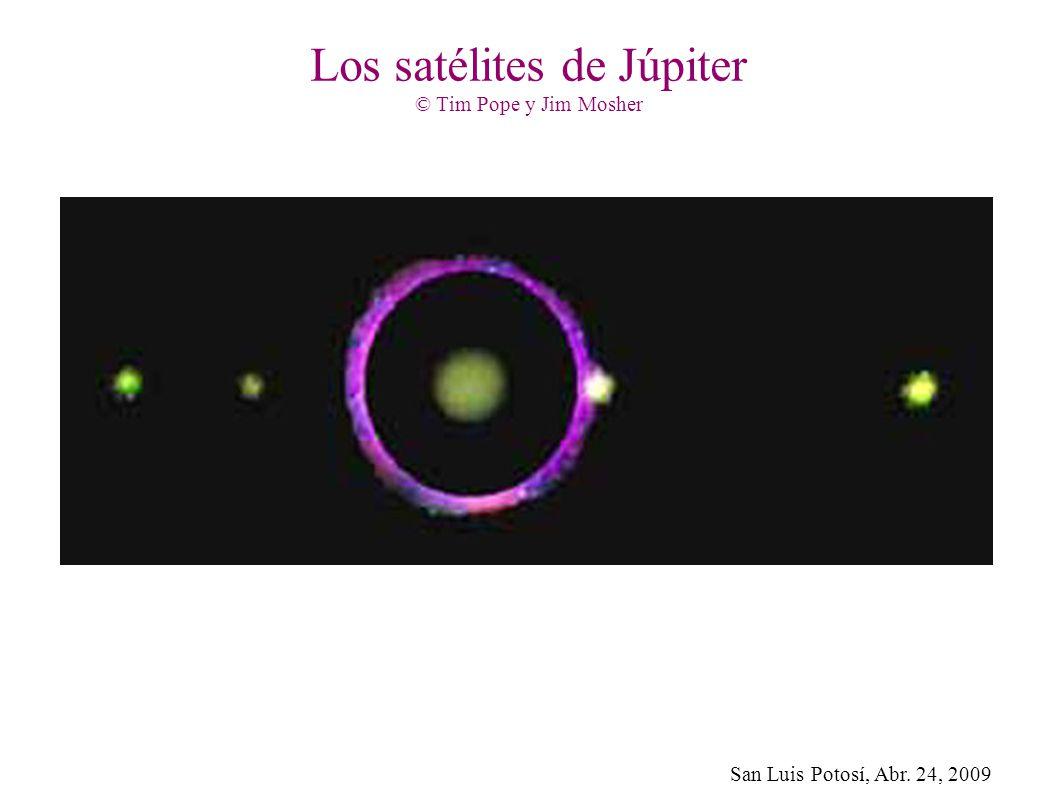 Los satélites de Júpiter © Tim Pope y Jim Mosher
