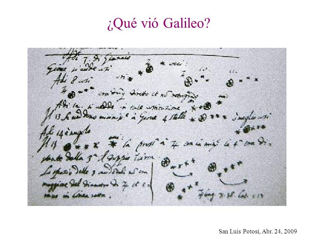 ¿Qué vió Galileo