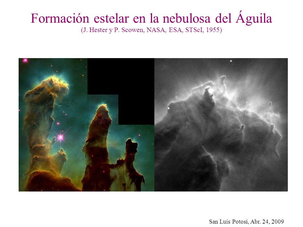 Formación estelar en la nebulosa del Águila (J. Hester y P