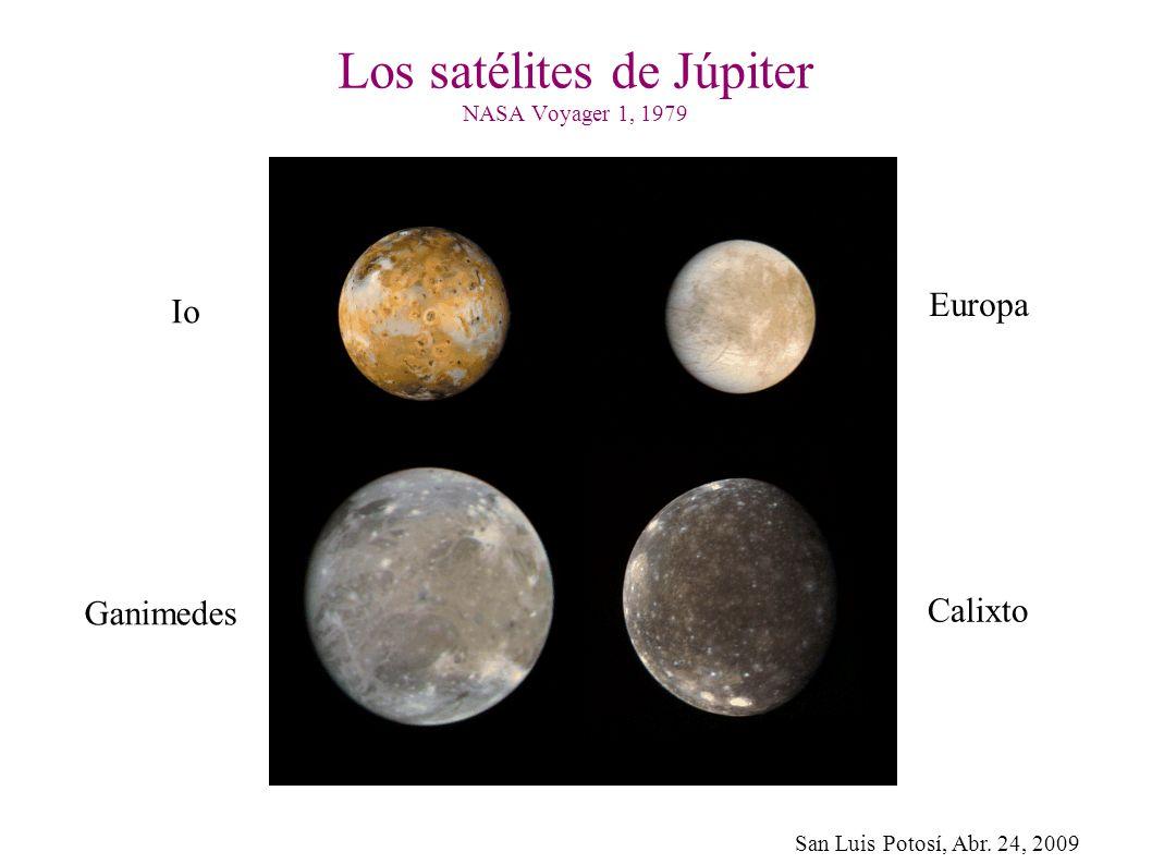 Los satélites de Júpiter NASA Voyager 1, 1979