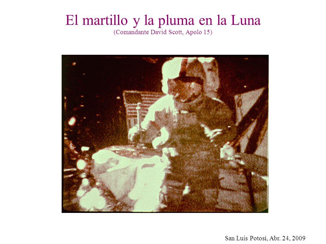 El martillo y la pluma en la Luna (Comandante David Scott, Apolo 15)