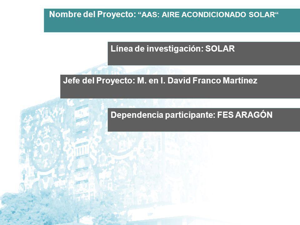 Nombre del Proyecto: AAS: AIRE ACONDICIONADO SOLAR