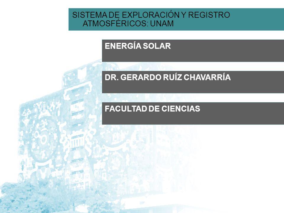 SISTEMA DE EXPLORACIÓN Y REGISTRO ATMOSFÉRICOS: UNAM