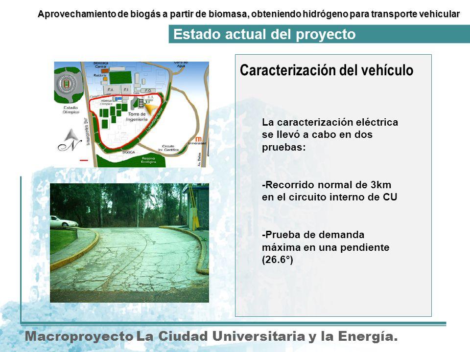 Caracterización del vehículo