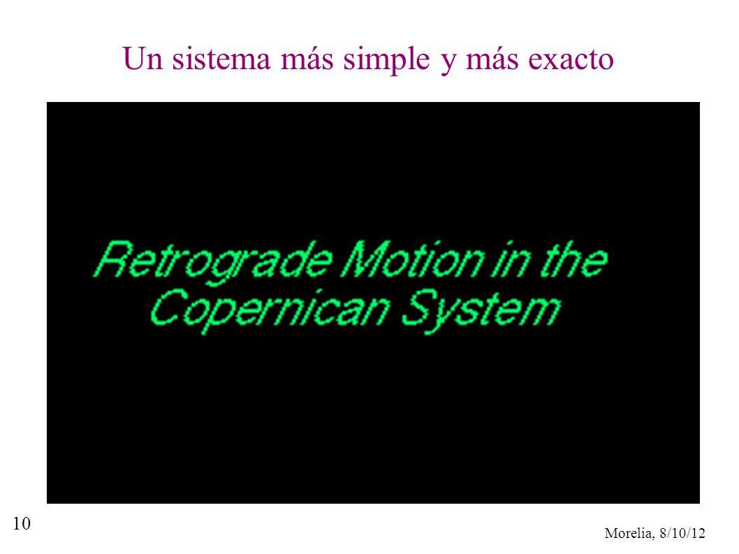 Un sistema más simple y más exacto