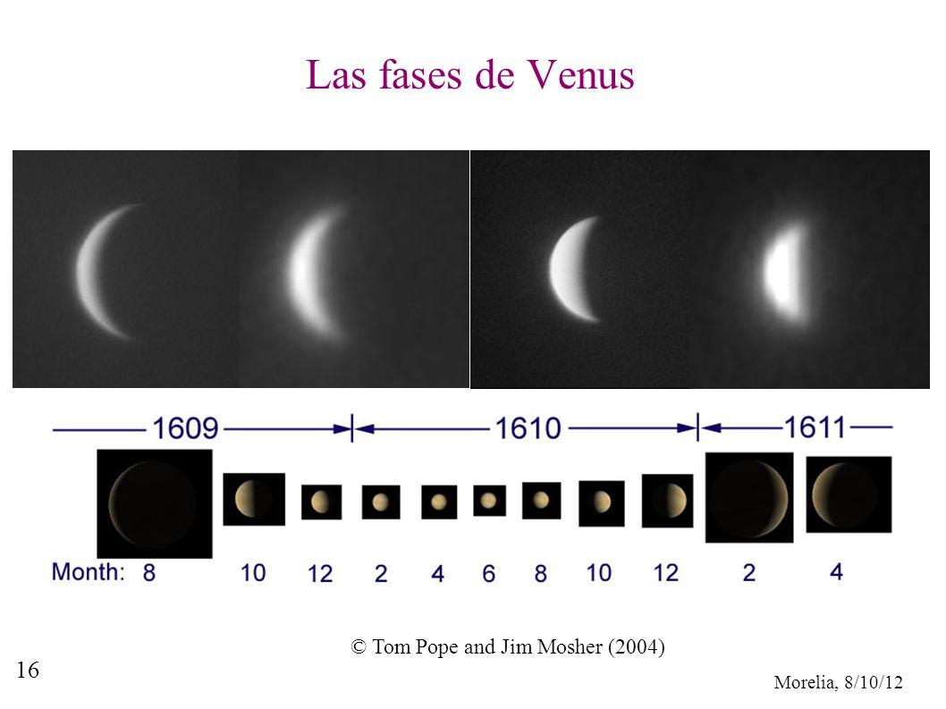 Las fases de Venus © Tom Pope and Jim Mosher (2004)
