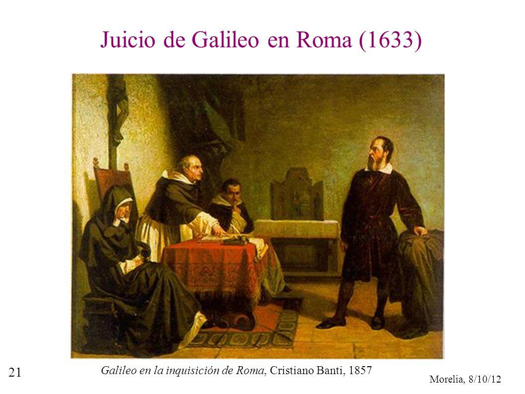 Juicio de Galileo en Roma (1633)