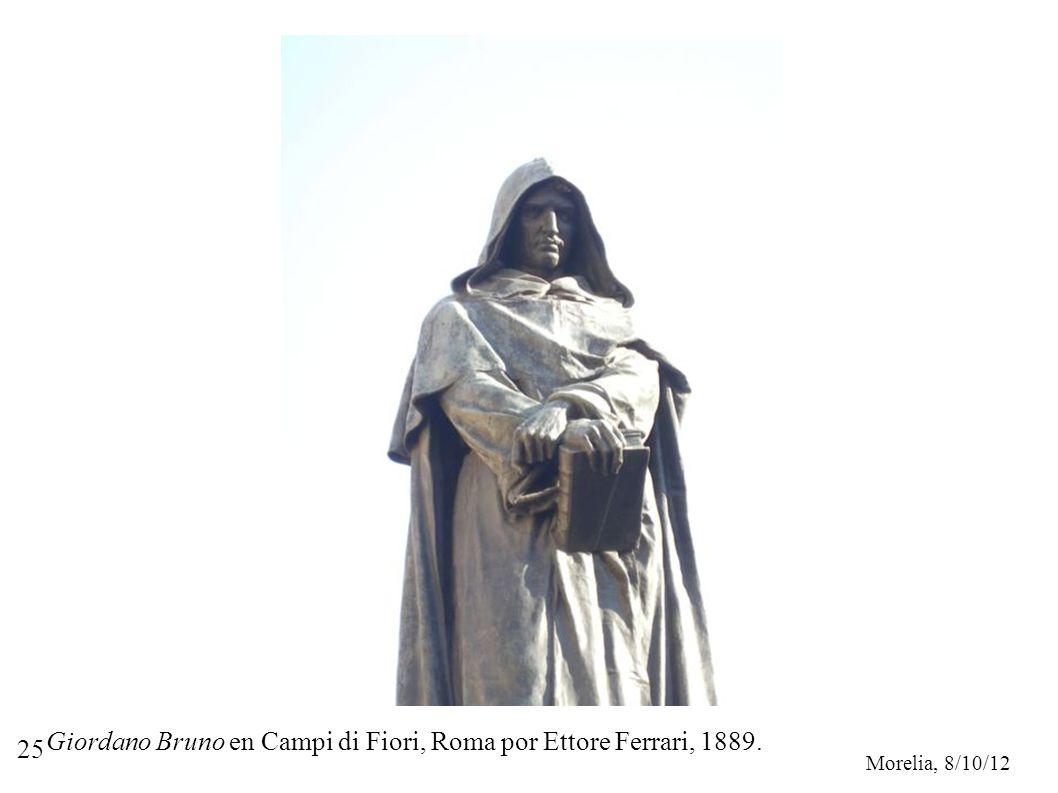 Giordano Bruno en Campi di Fiori, Roma por Ettore Ferrari, 1889.
