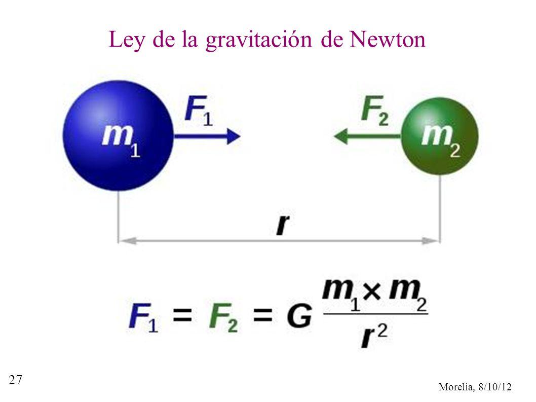 Ley de la gravitación de Newton